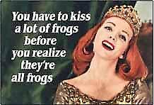 You Have To Kiss A Lot Of Frogs... funny fridge magnet