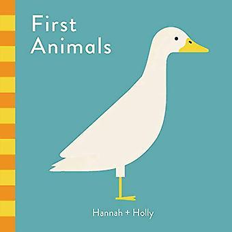 First Animals (Hannah + Holly) [Board book]