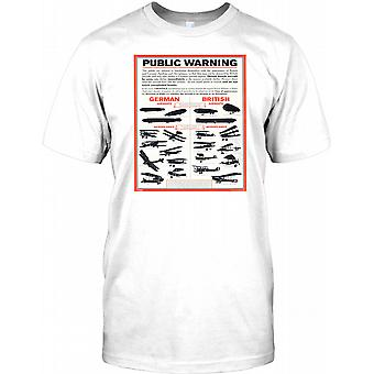 1. Weltkrieg Flugzeug öffentliche Poster - Kinder T Shirt