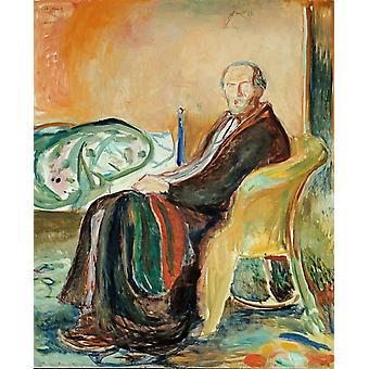 Self-Portrait,Edvard Munch,50x40cm