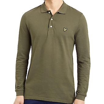Lyle and Scott Long Sleeve Polo Shirt   Green