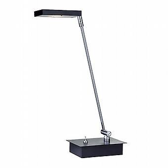 Geführte Partner schwarz 6W geleitet Quadrat Schatten Tischleuchte