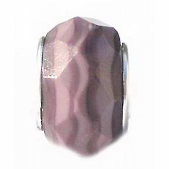 TOC BEADZ Mauve Faceted 8mm Glass Slide-On Off Bead
