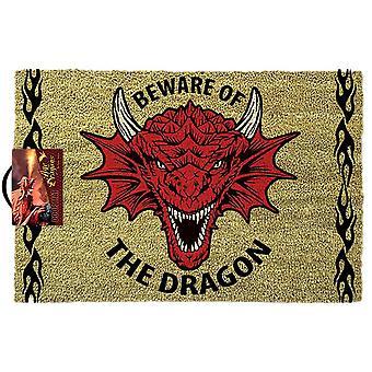 Anne Stokes Beware of the Dragon Doormat