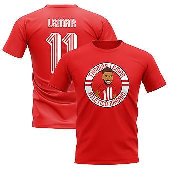 Thomas Lemar Atletico Madrid Illustration T-Shirt (Red)