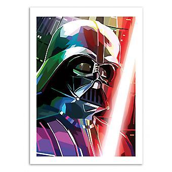 Konst-affisch-Darth Vader-Liam Brazier 50 x 70 cm