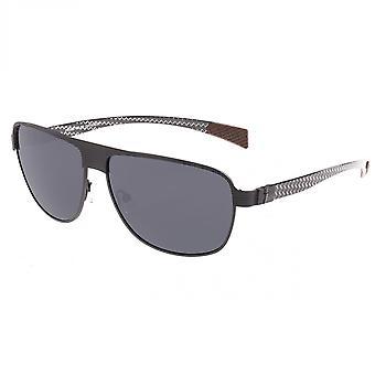 Breed Hardwell Titanium and Carbon Fiber Polarized Sunglasses - Black/Black