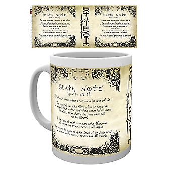 Death Note Rules Boxed Drinking Mug