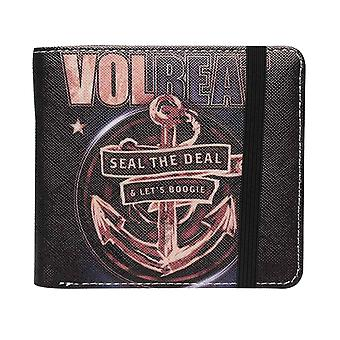 Volbeat Wallet Seal The Deal Band Logo new Official Black Bifold