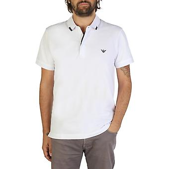 Emporio Armani Men White Polo -- 9P46353776