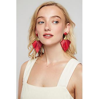 Louche Anjou Tassel Earring Red