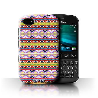 STUFF4 Case/Cover voor Blackberry 9720/paars/rood/Azteekse Tribal patroon