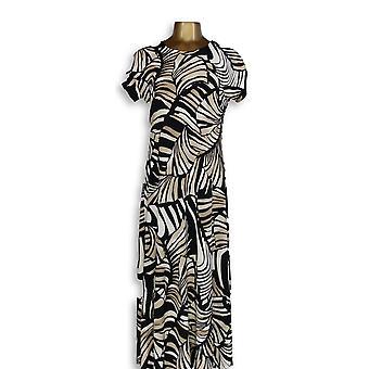 Attitudes by Renee Petite Dress S Maxi Jersey Printed Safari Black A347505