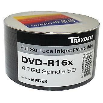 DVD-R 16 X TRAXDATA FF Inkjet Printable leere DVDR Discs - 50 Spindel/Wanne = 100 Ritek DVD