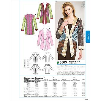 Jackets  Xs  S  M  L  Xl Pattern K3563