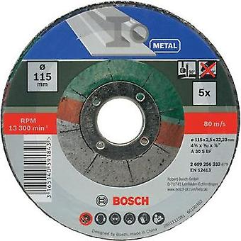 Bosch 2609256332 5-piece cutting disc set with depressed centre for metal