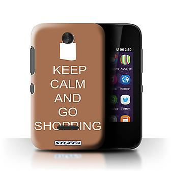 STUFF4 Case/Cover for Nokia Asha 230/Go Shopping/Brown/Keep Calm