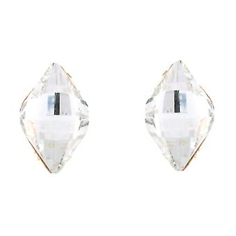 Clip On Earrings Store Gold and Clear Crystal Diamond Clip On Earrings