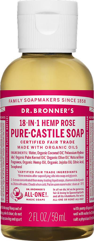 Dr. Bronner 18-in-1-Hanf Rose Pure-Kastilien Seife