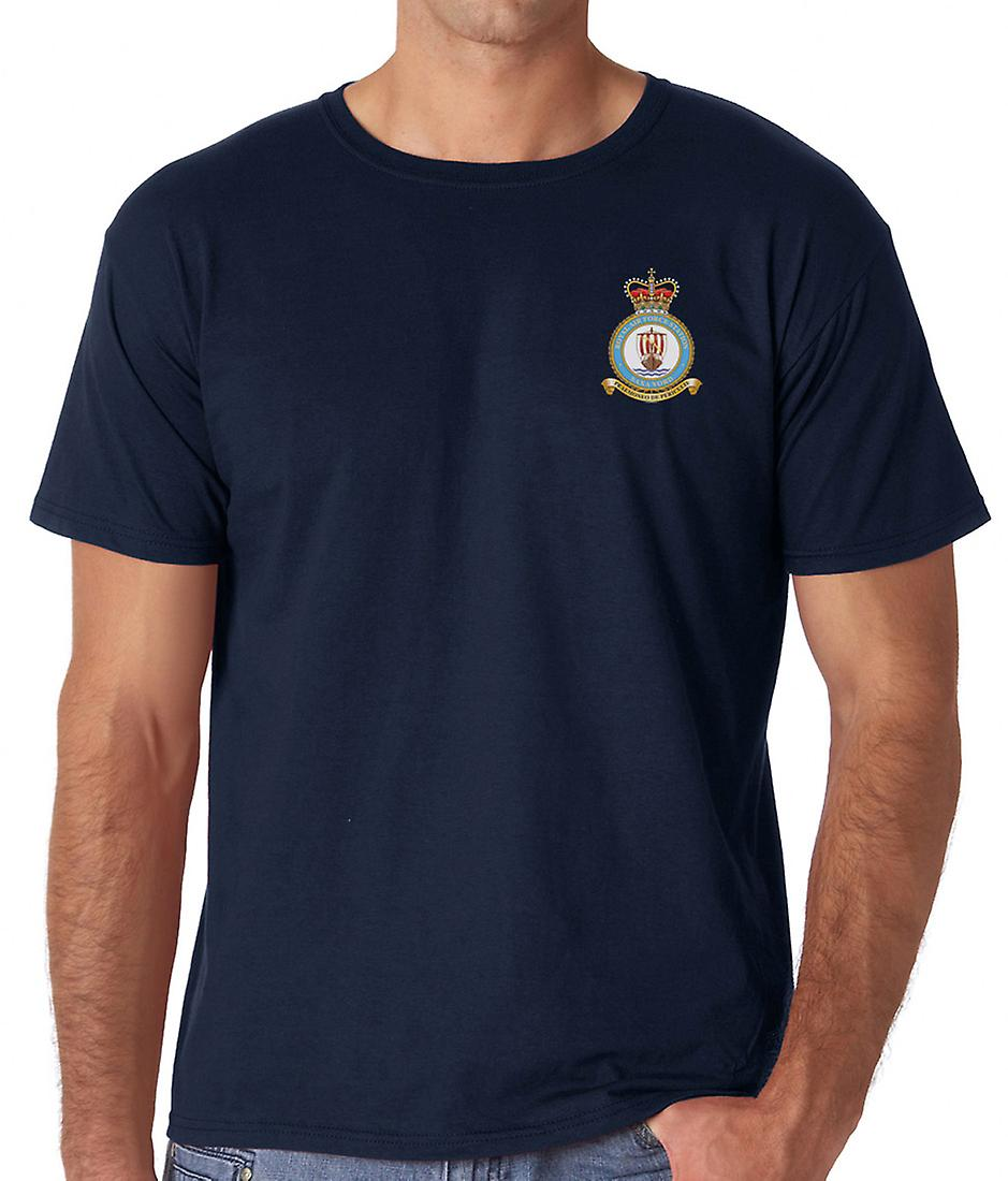 Saxa Vord RAF Station broderad Logo - officiell Royal Air Force ringspunnen T Shirt