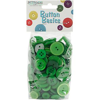 Button Basics Assorted Buttons 5.5oz-Forest Green BCB-100