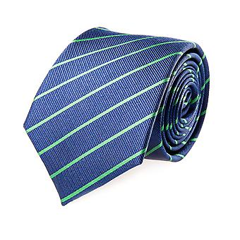 Pelo classic tie silk silk tie blue-green striped