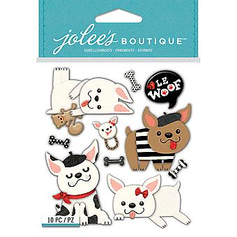 Jolee's Boutique Dimensional Stickers-French Bulldogs E5021936