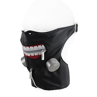 Ritssluiting grote glimlach verstelbare halve gezicht en de hals maskeren w/Faux lucht Filters