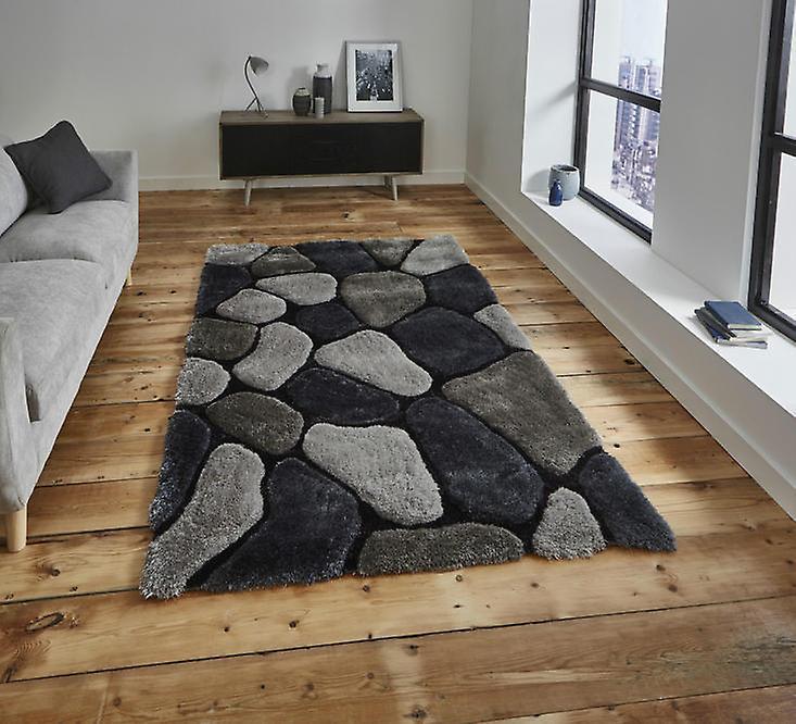 Nobel House cailloux 5858 tapis gris Cobalt Rectangle tapis Plain presque ordinaire