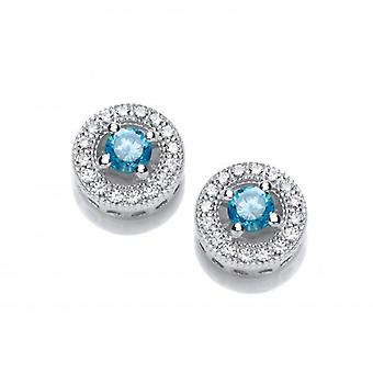 Cavendish French Twinkle Toes Blue Topaz Solitaire Earrings