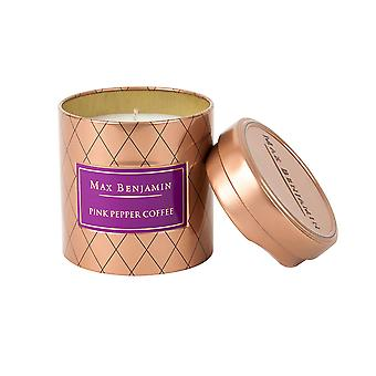 Max Benjamin Pink Pepper Coffee Scented Candle in Tin