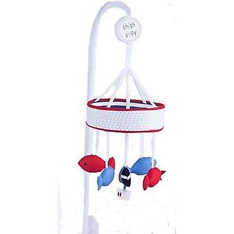 Red Kite Schiffe Ahoi Kinderbett Musik Mobile blau