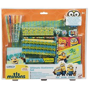 MINIONS | Ultimate Fun Pack | Super Stationery Set | Minion Bag Pencil Case Pens Deluxe