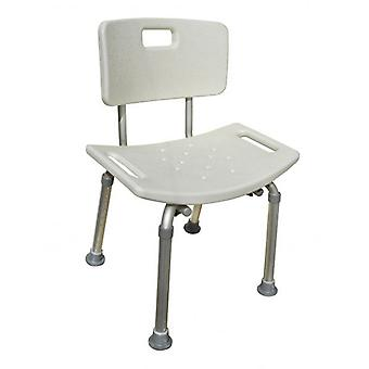 Aluminium bad / dusch plats / stol med 8 justerbara höjder 36cm – 53cm