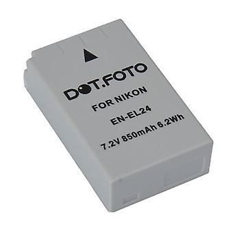 Dot.Foto Nikon EN-EL24 Replacement Battery - 7.2v / 850mAh
