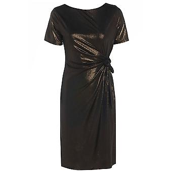 Sexiga kvinnors metalliska Slinky sida Bow Dress DR594-8