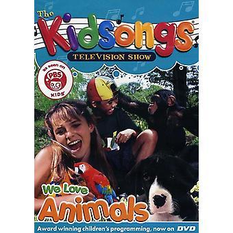Kidsongs - vi elsker dyr [DVD] USA importerer