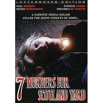 7 Murders for Scotland Yard [DVD] USA import