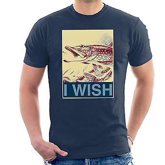 I Wish Fishing Shepherd Fairey Style Men's T-Shirt