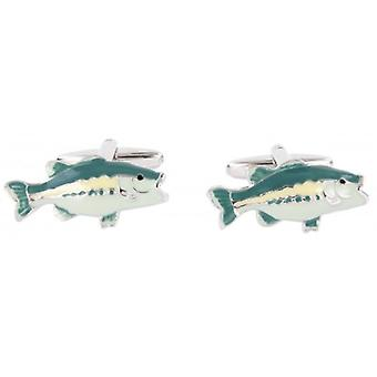David Van Hagen Fish Cufflinks - Silver
