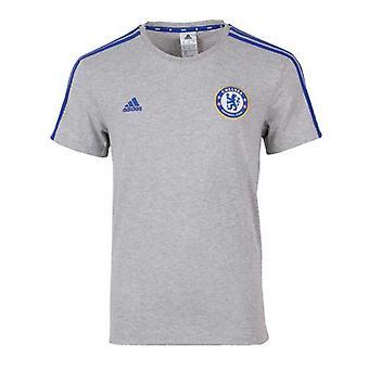 ADIDAS Chelsea Three Striped T-Shirt [Grey/blue]
