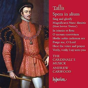 Tallis / importación Musick de Cardinall - Spem en Alium [CD] Estados Unidos