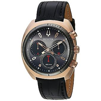 Bulova Leather Chronograph Mens Watch 98A156
