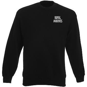 Royal Marines Elite Comamndo Text Stickerei Logo - offizielle Schwergewichts-Sweatshirt