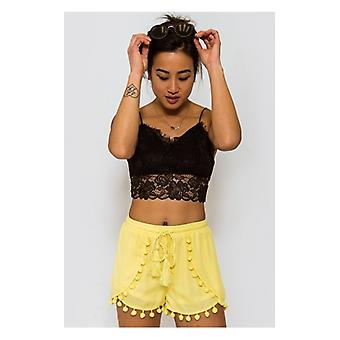 The Fashion Bible Limited Edition Yellow Pom Pom Shorts
