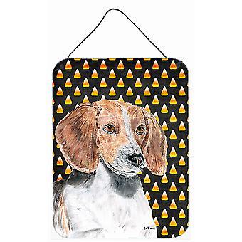Engelse Foxhound Halloween Candy Corn muur of deur hangen Prints