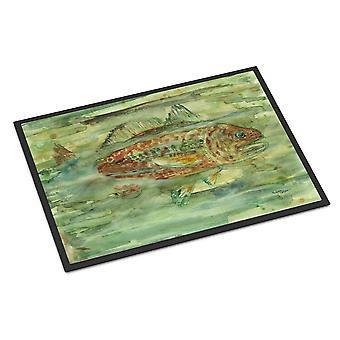 Carolines Schätze 8960JMAT abstrakte roter Fisch innen- oder Außenbereich Mat 24 x 36