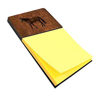 Paard Refiillable notitie houder of Postit Opmerking Dispenser