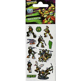 3 x Quality Sticker Sheets | TMNT TEENAGE MUTANT NINJA TURTLES FOIL | Party Bags & Decoration