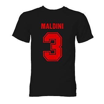 Paolo Maldini AC Milan Hero T-Shirt (sort)